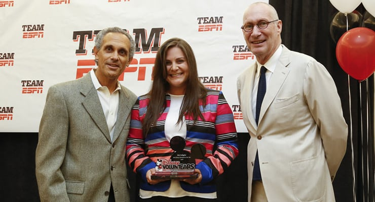 Brie Gallagher ESPN Volunteer Award